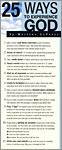 Prayer Cards - 25 Ways to Experience God