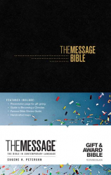 The Message Gift & Award Bible - Blk imitation leather